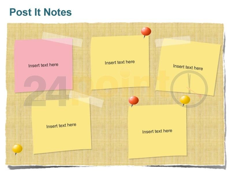 use this powerful post it notes ppt template to highlight key points