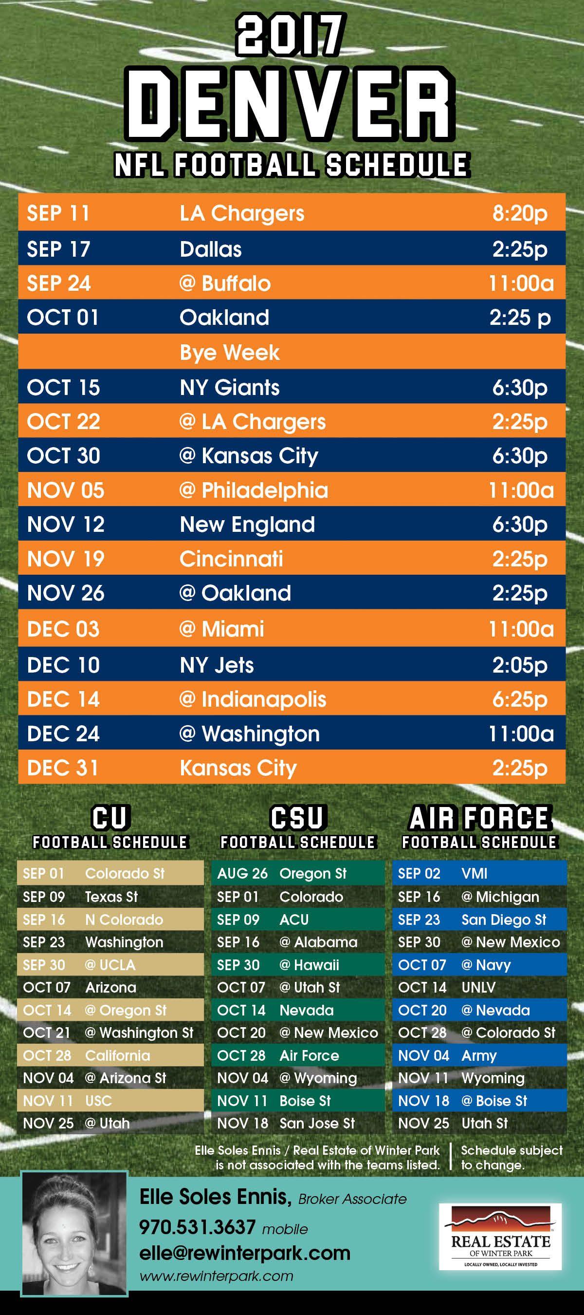 Broncos Schedule Air Force Football Schedule Colorado