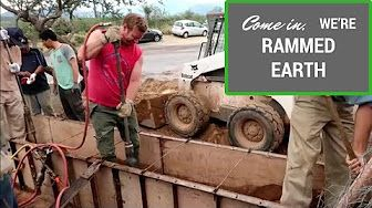 rammed earth construction - YouTube