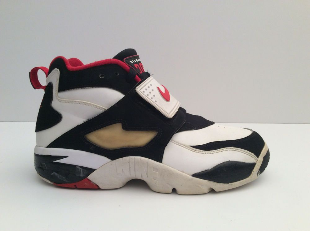 7140618c455dc Nike Diamond Turf Deion Sanders Atlanta Falcons WHT-RED-BLK-GLD 309434 100  Sz 9  Nike  BasketballShoes