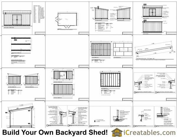 12x18 lean to shed plans example Garage Pinterest – 12X18 Garage Plans