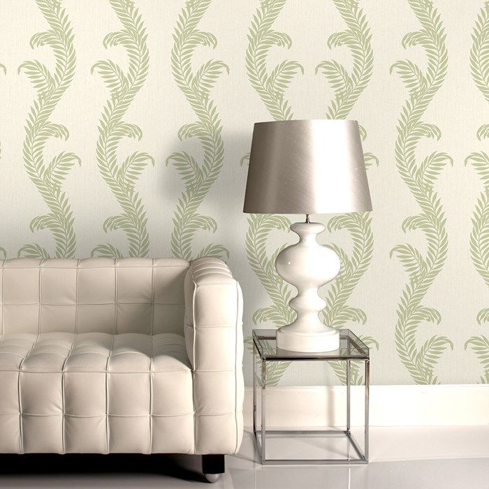 Venus Cream Green Wallpaper By Graham And Brown