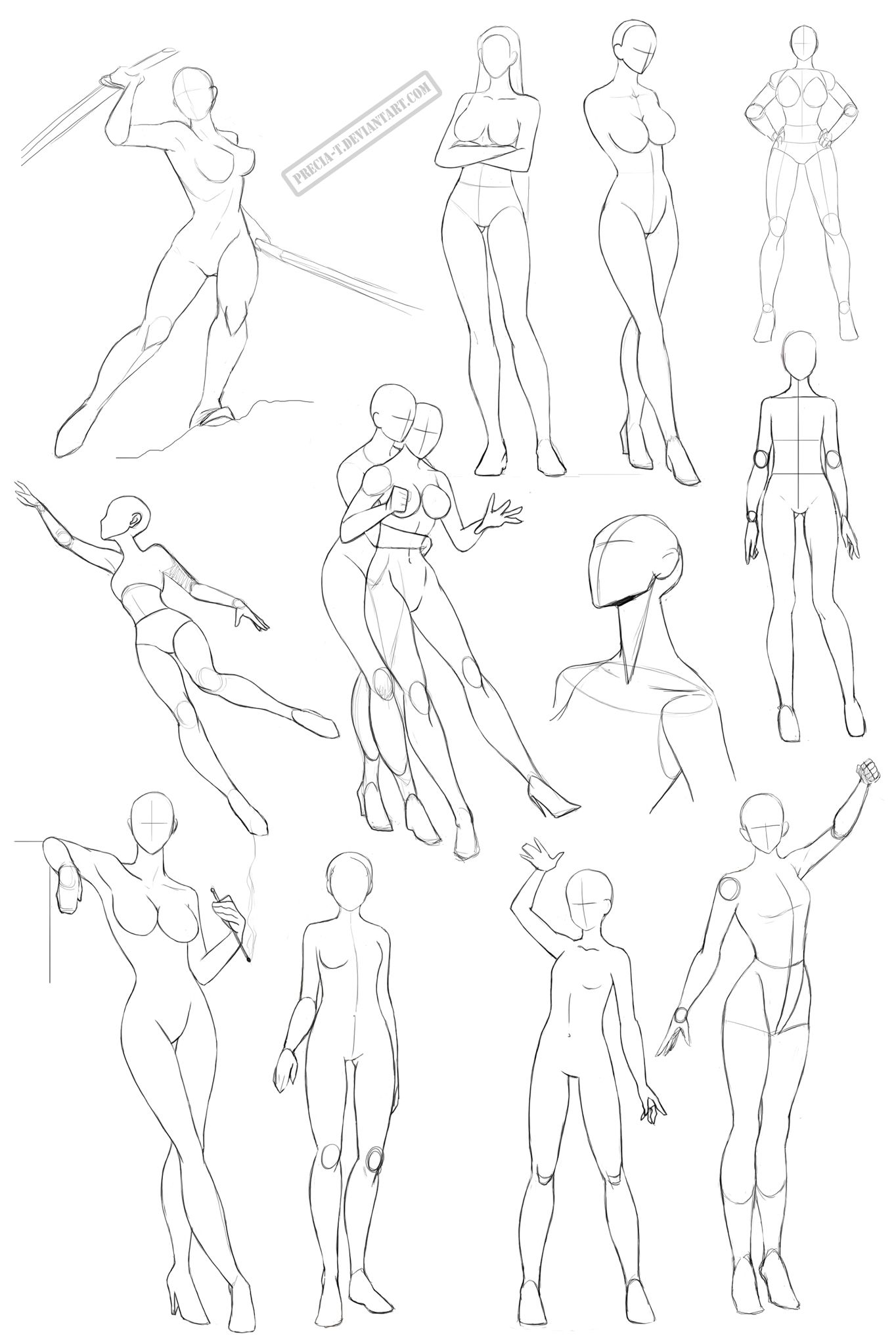 Female anatomy 2 by Precia-T.deviantart.com on @deviantART | Drawing ...