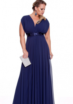 Buy Australia V-neck Chiffon Long Plus Size Evening Dress ...