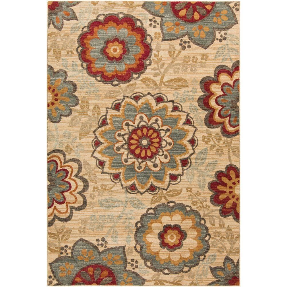 Agnes Moss Green 1 Ft 10 In X 2 Ft 11 In Indoor Area Rug Area Rugs Floral Area Rugs Art Of Knot