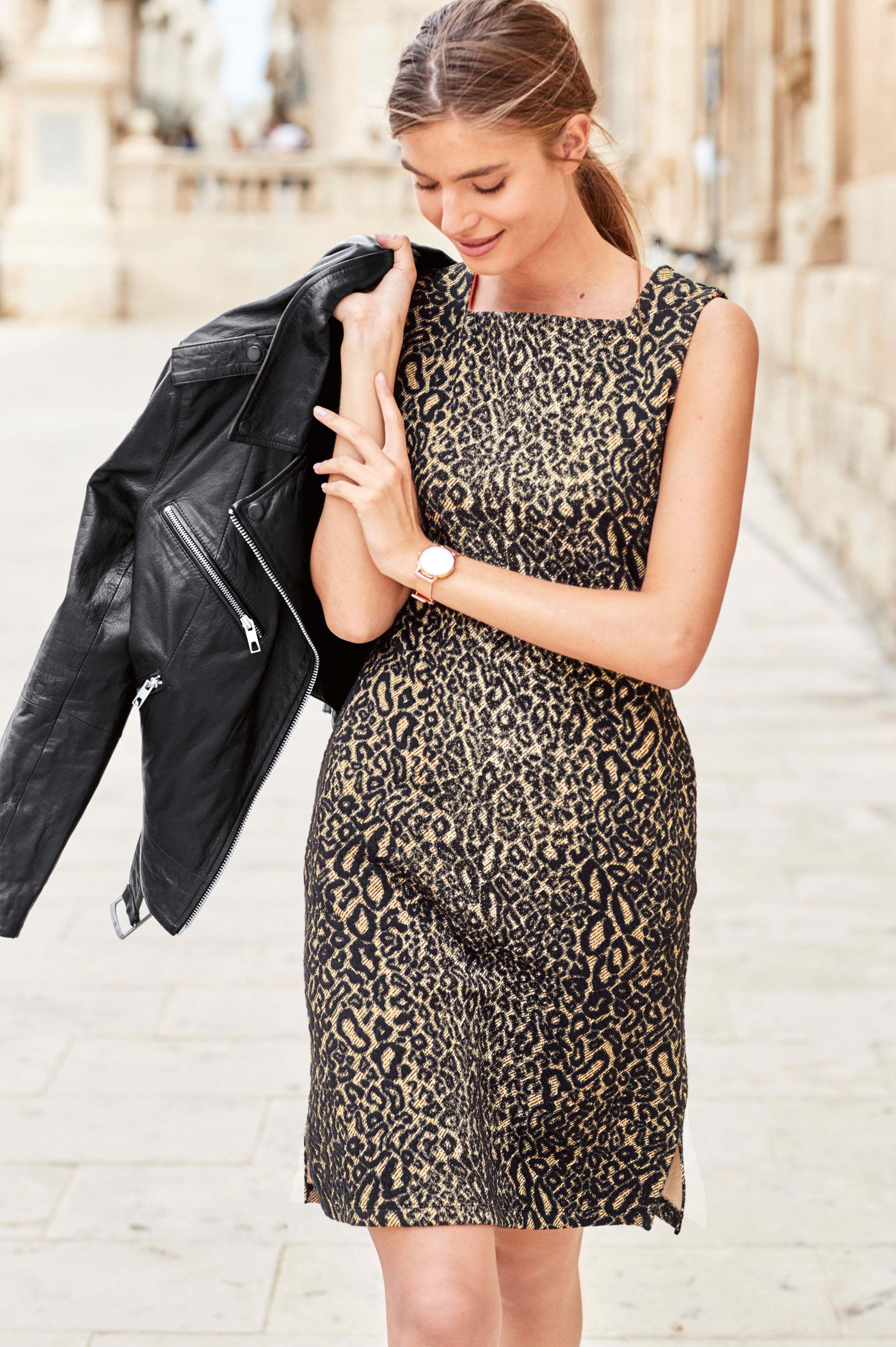 f175708a073 Womens Next Animal Jacquard Dress - Animal