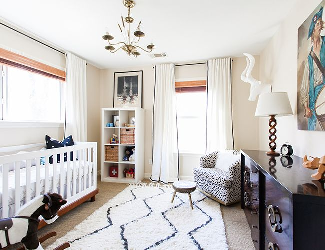 Modern Black White And Gold Nursery Baby Room Rugs Eclectic