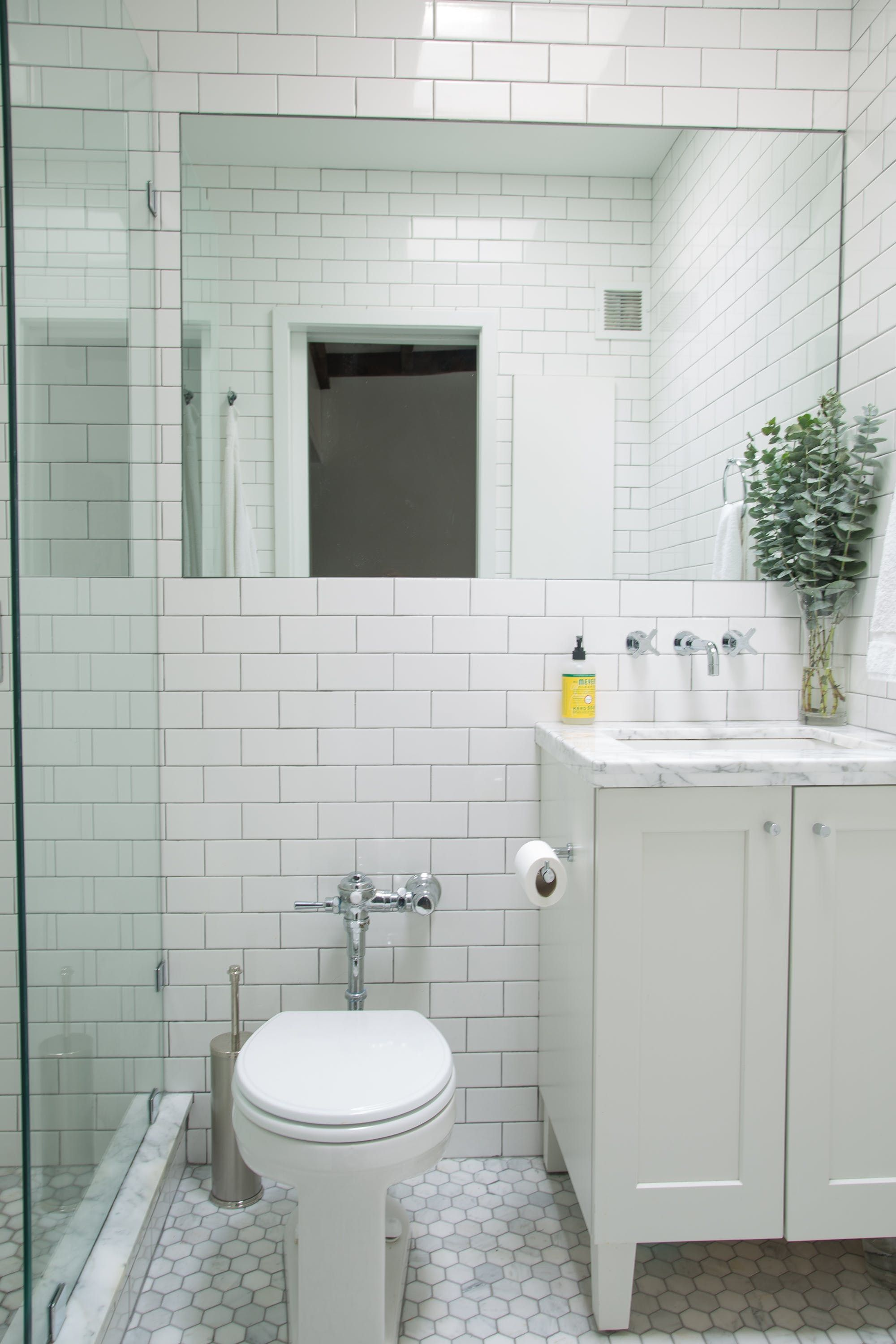 We Also Put In A Custom Wall Medicine Cabinet The Bathroom Behind Sink That Allowed Us To Install An Extra Tall And Wide Flat Mirror