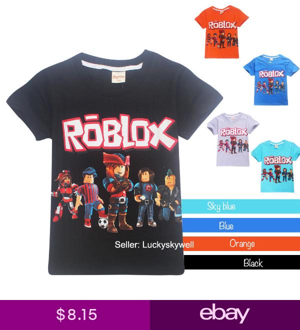 ROBLOX Boys Girls Kids Cotton T-shirt Tops Short Sleeve Casual Summer Costumes