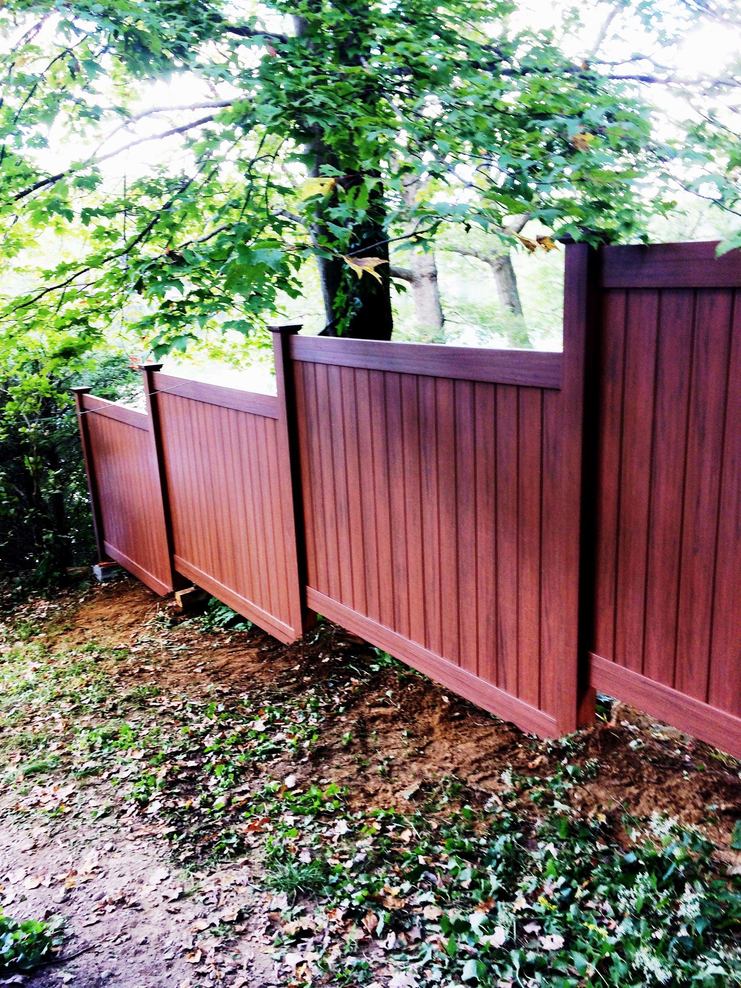 Woodgrain Vinyl Privacy Fencing VINYL FENCE