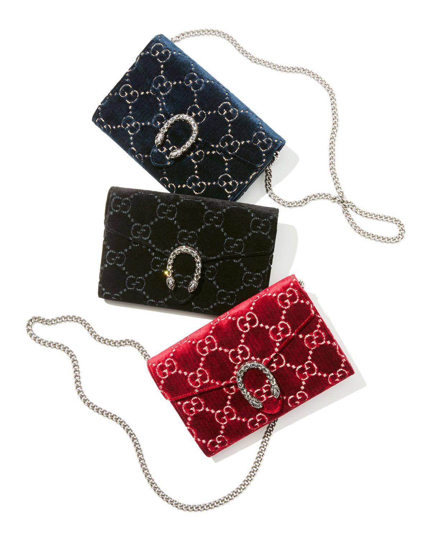 84f12c854763 Gucci Dionysus Velvet GG Supreme Wallet On Chain in 2019 | Handbag ...