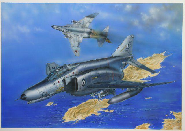 Phantoms in combat kostas kavvathias hellenic air force artwork images jpg  640x453 Art kostas kavvathias 947cba11eb1