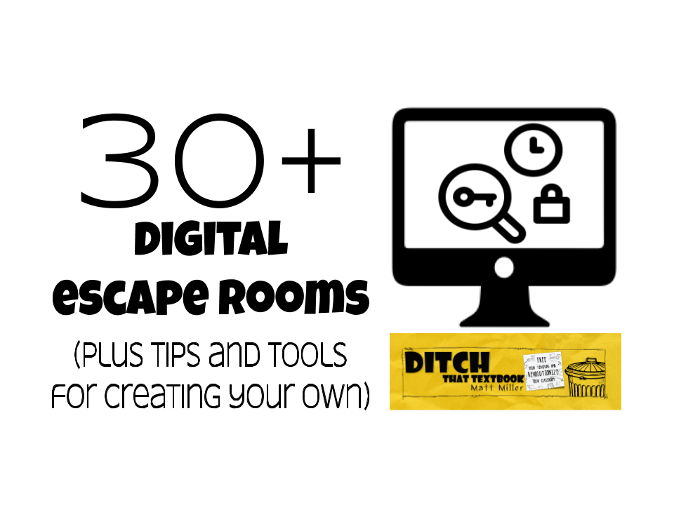30+ digital escape rooms (plus a step by step guide for