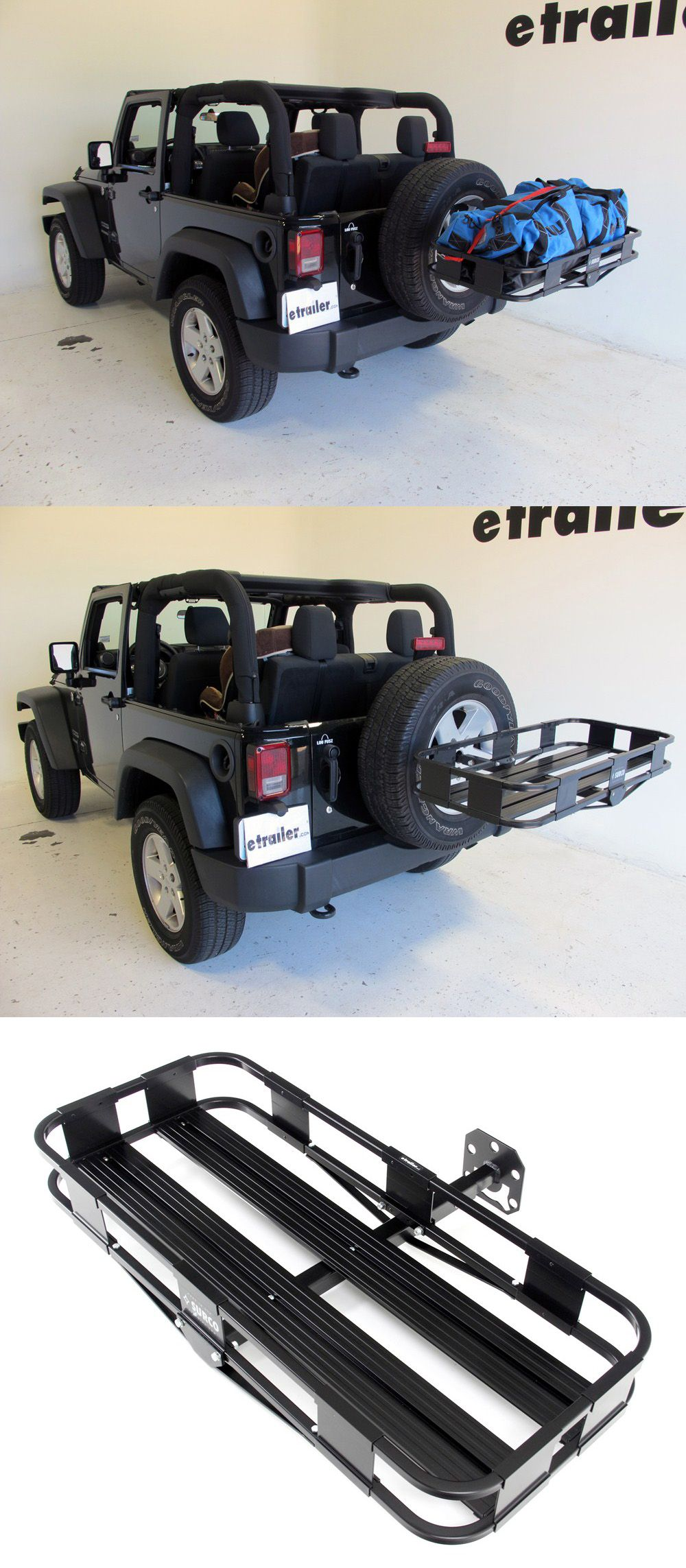 Surco Spare Tire Mounted Cargo Basket 19 Long X 43 Wide Surco