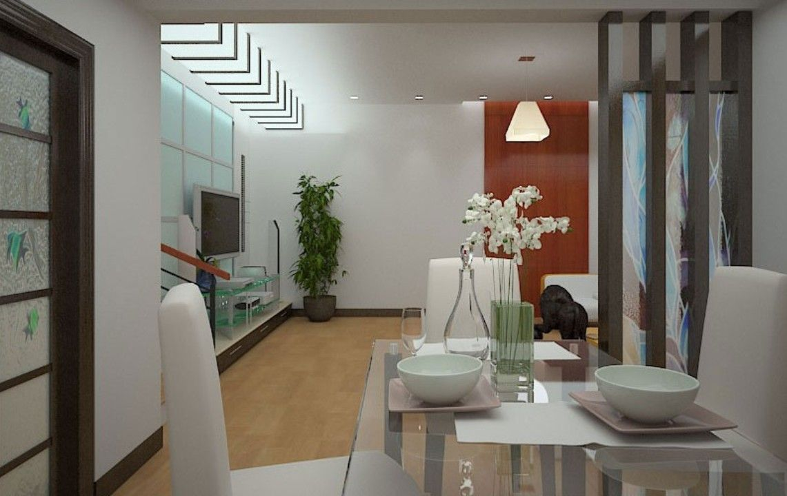 Glass Partition Designs Between Living Dining