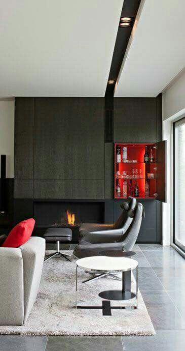 Innenbeleuchtung Design, Decke Detail, Decken Ideen, Zeitgenössische  Inneneinrichtung, Innenarchitektur, Wohnräume, Kaminsimse, Blitze, Kamine