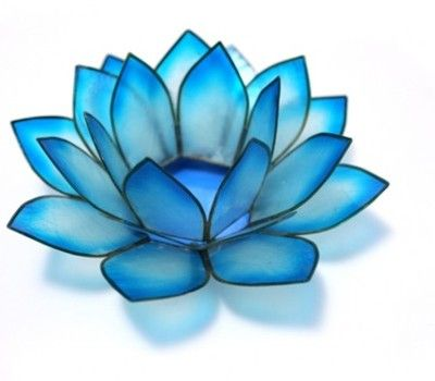 Blue Lotus Flower Meaning Chakra Lotus Candle Holder Blue