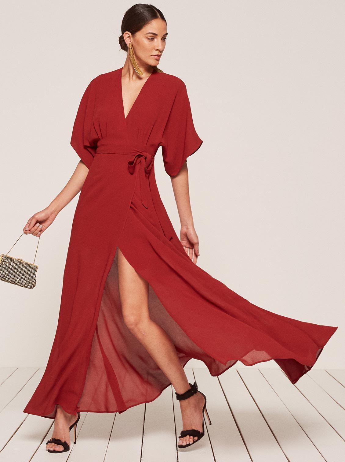 Winslow dress cranberry 1 clp | Rent designer dresses ...