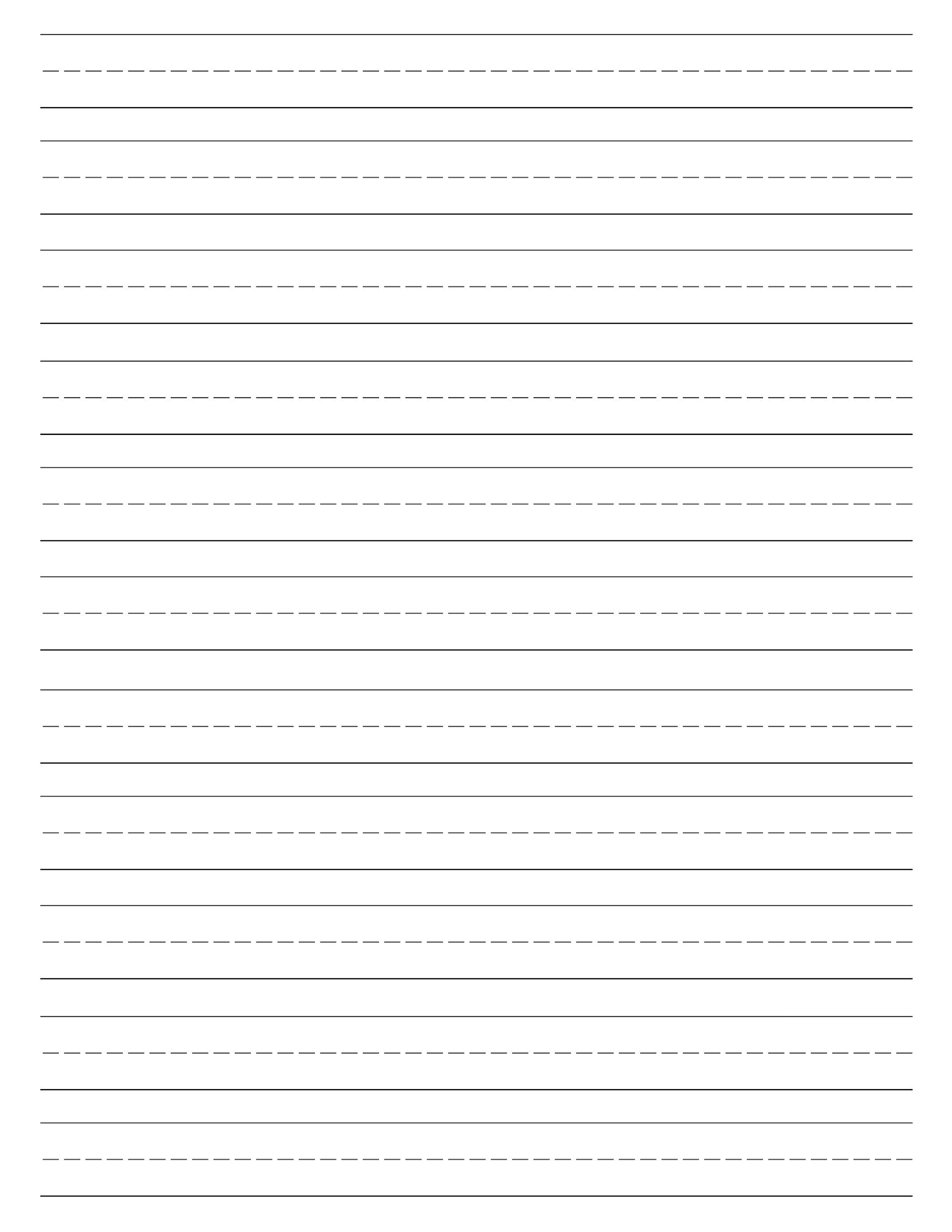 image about Printable Writing Paper for Kindergarten named Absolutely free Printable Included Paper Handwriting Paper Template