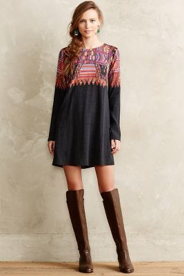 Cynthia Vincent Daugava Petite Swing Dress #anthrofave #anthropologie