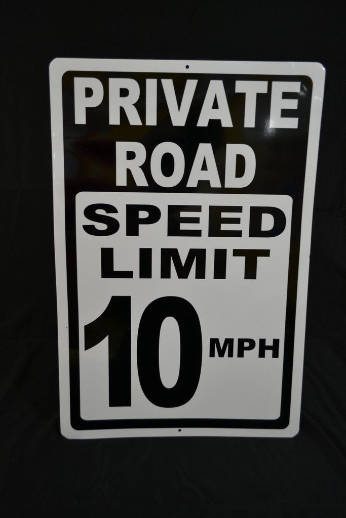 Private Road Speed Limit 10 MPH Sign CLEARANCE Scratch  Dent Sign