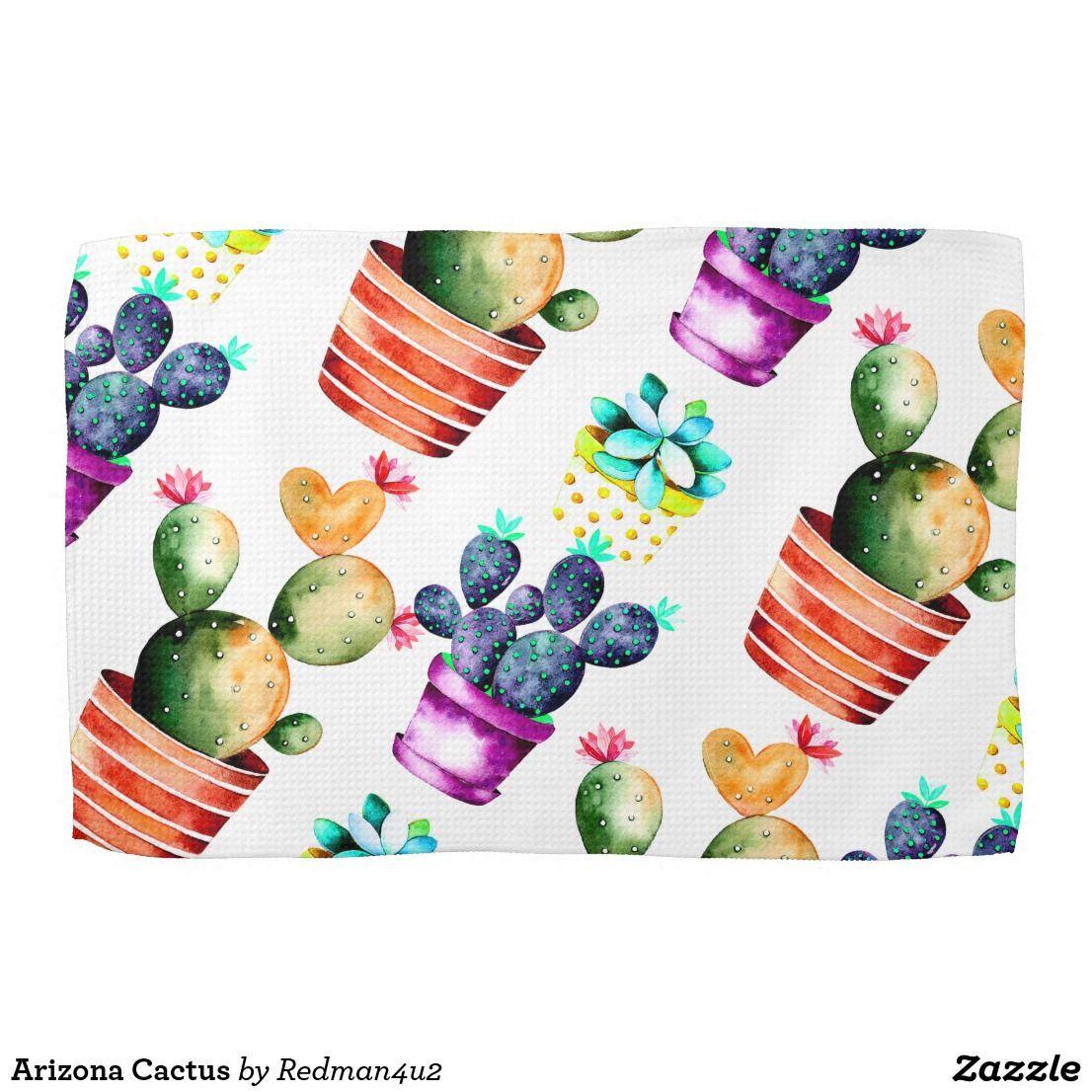 Arizona Cactus Kitchen Towel | Zazzle.com #arizonacactus