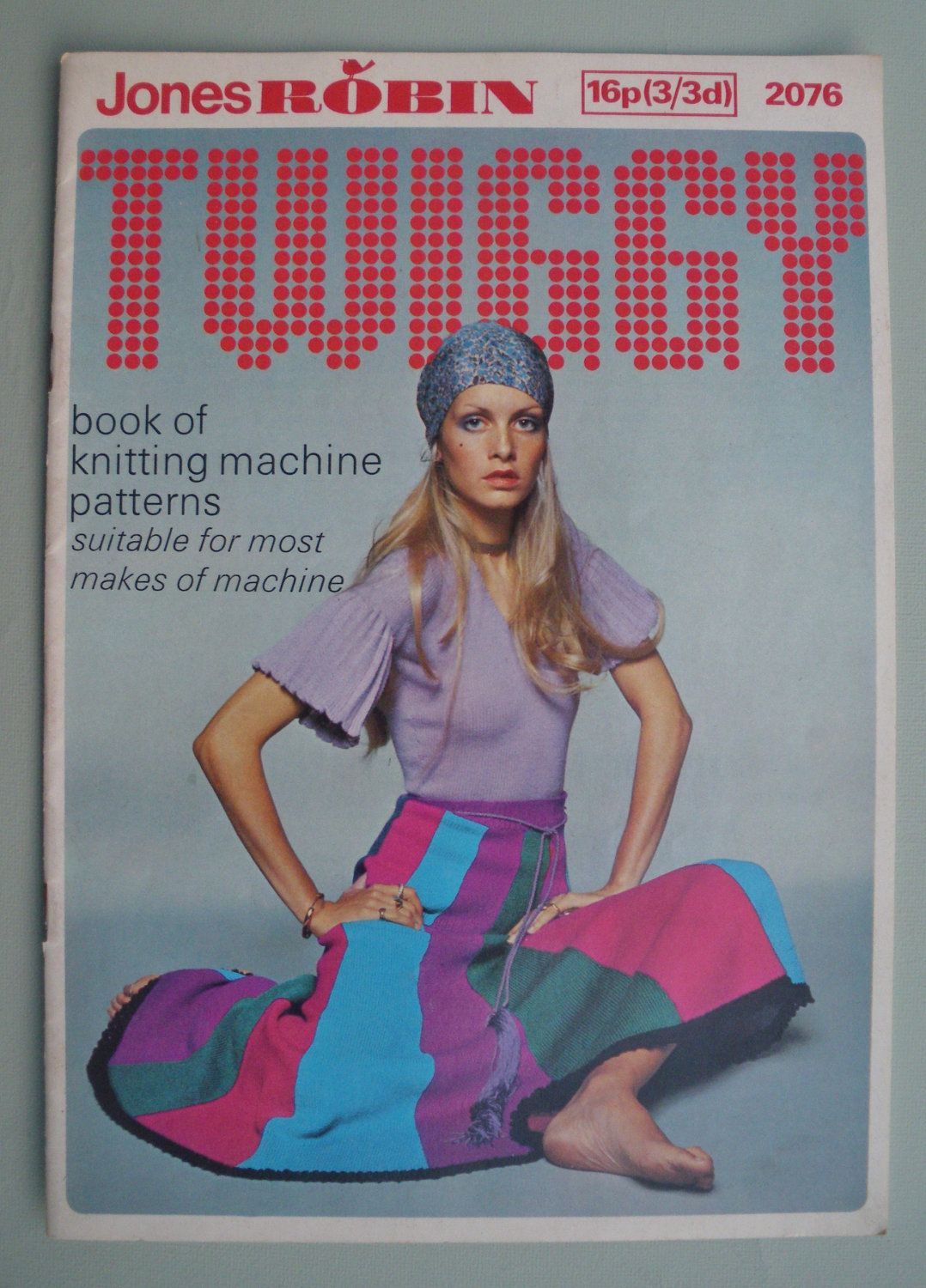 Vintage Knitting Patterns 1960s 1970s - Twiggy Book of Knitting ...