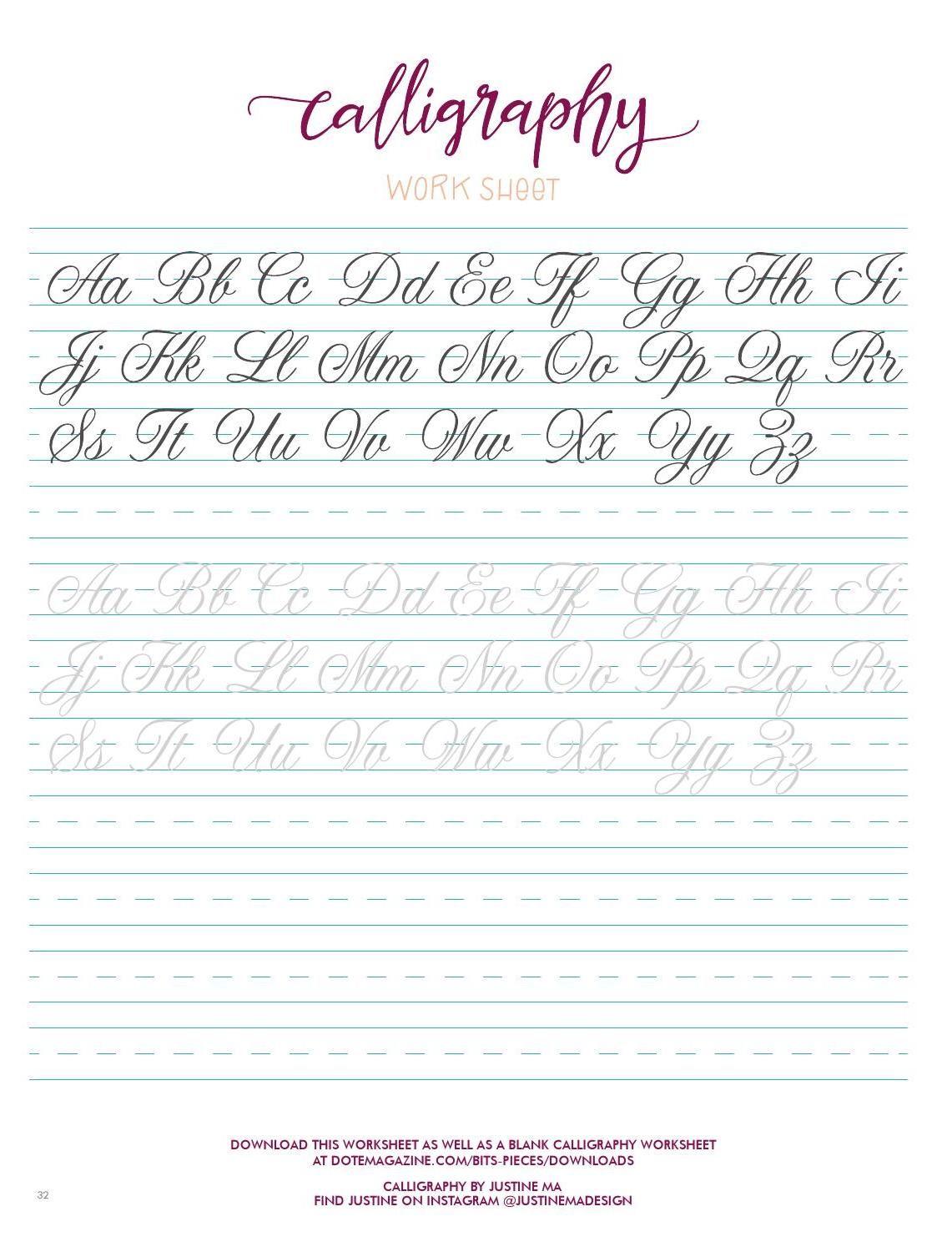 Dote Magazine Issue 2 Learn Hand Lettering Lettering Alphabet Hand Lettering Worksheet [ 1494 x 1141 Pixel ]