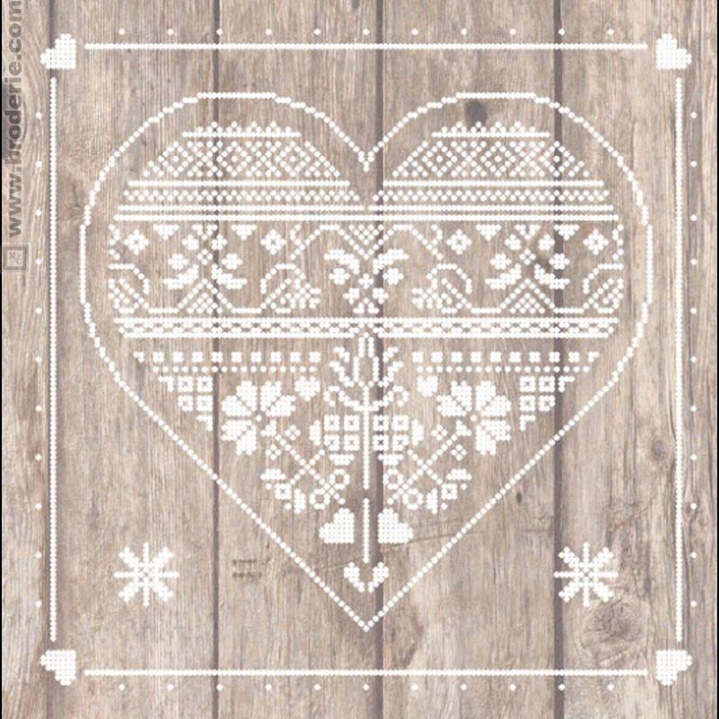 Tableau coeur | La maison du canevas, Kit point de croix, Point de croix