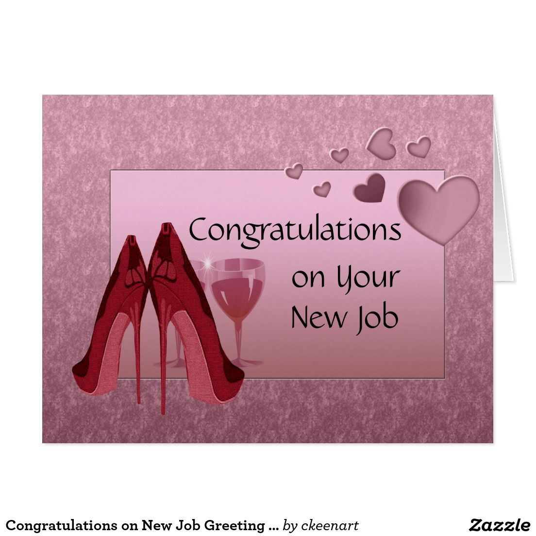 Create your own Card Zazzle.co.uk New job