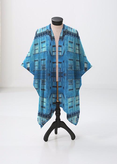 Sheer Wrap - Blue Sheer Wrap by VIDA VIDA WcKct