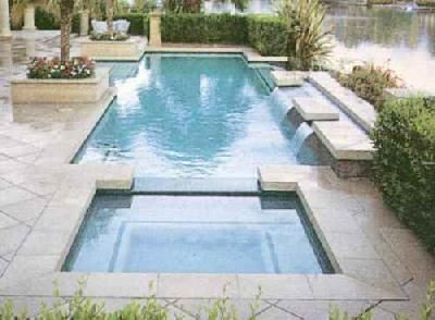 rectangular pool designs with spa. Poolandspacom Cool Pool Picture Roman Spa And Rectangular Designs With