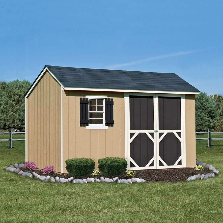 Shop Heartland Stratford Saltbox Engineered Wood Storage Shed Common 12 Ft X 8 Ft Interior Dimensions Shed Storage Wood Storage Sheds Shed