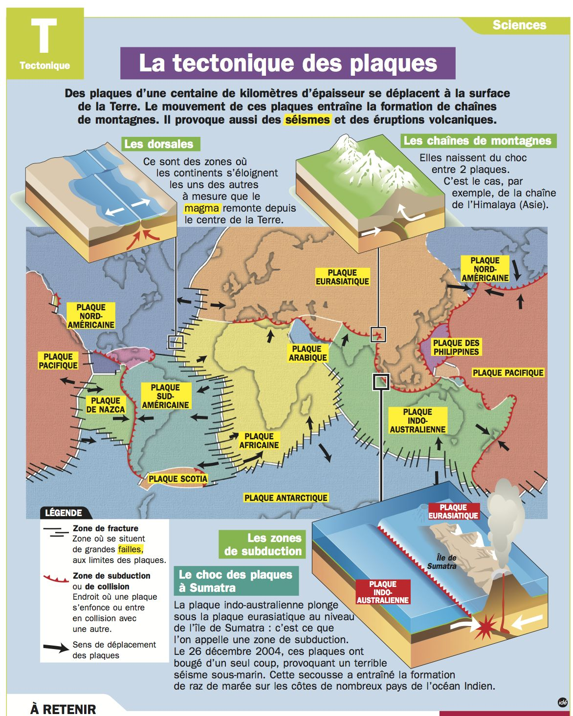 Fiche exposes La tectonique des plaques