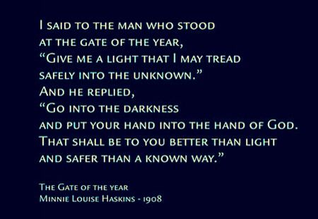 The Gate Of The Year Poem By Minnie Louise Haskins 1908