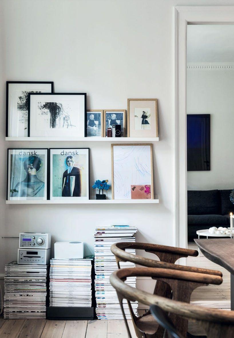 Smukke Gallerihylder I Spisestuen | {Art Walls} | Pinterest |  Studentenwohnungen, Wohnzimmer Und Einrichtung