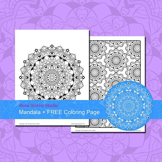 Mandala 1 FREE Coloring Page For Adults Intricate Mindfulness Handmade