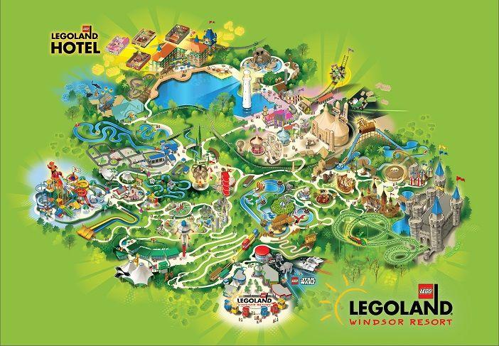 The LEGOLAND Windsor Resort Park Map | Holiday Ideas | Pinterest ...