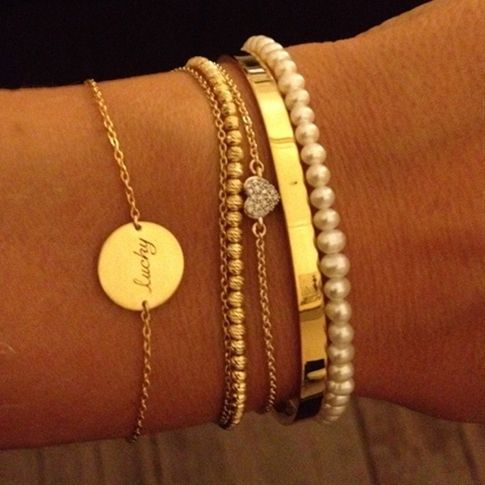 Thin simple bracelets. LOVE