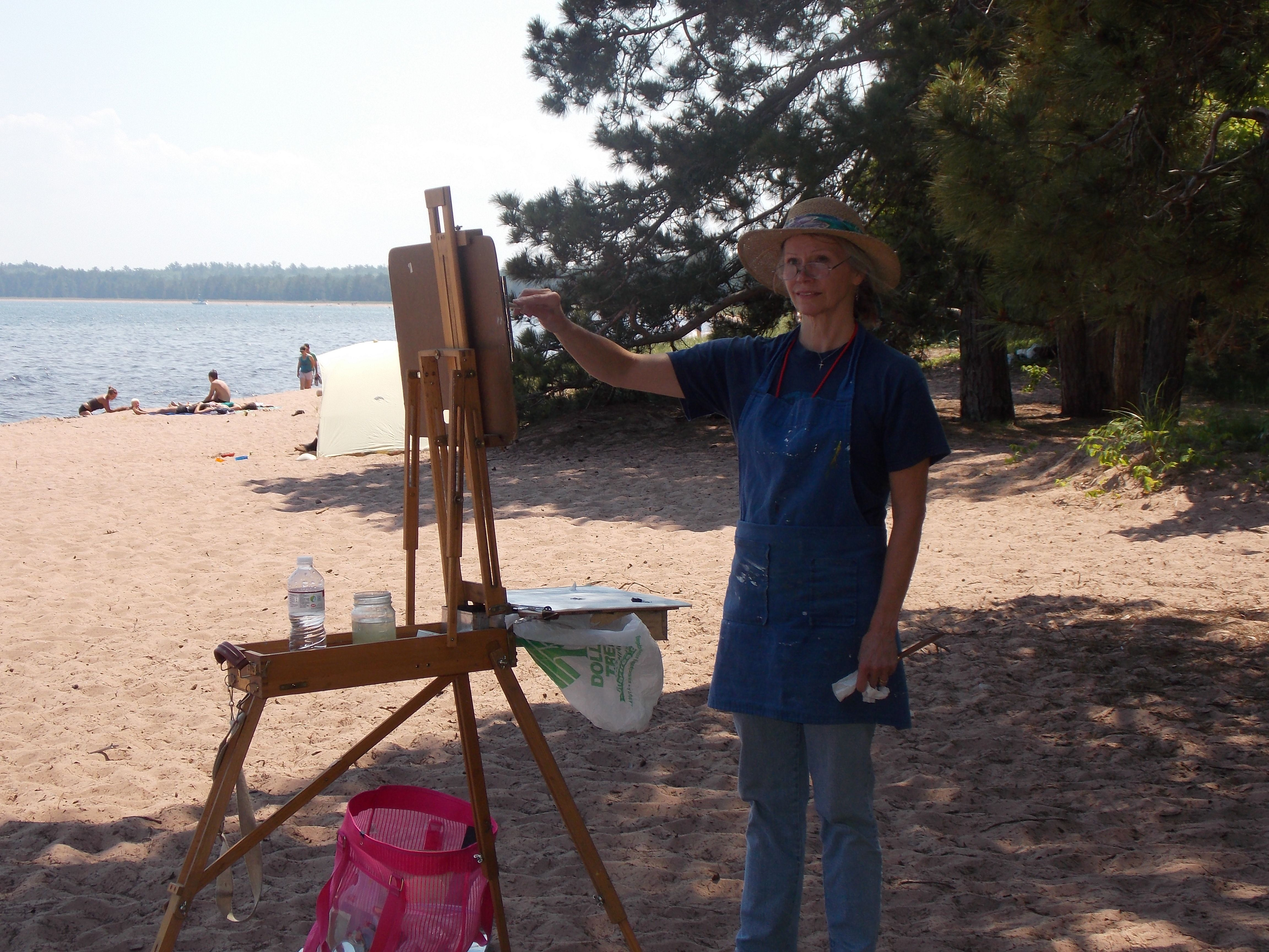 Plein air painting at Big Bay Town Park, Madeline Island
