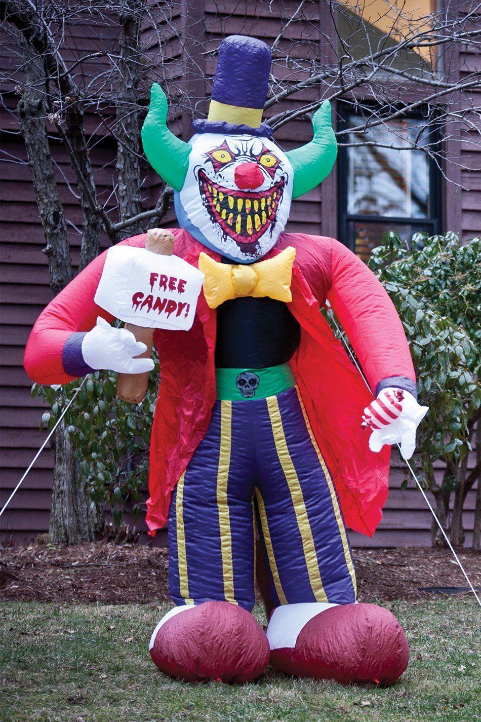 Airblown 9 Gemmy Inflatable Happy Clown Yard Decoration