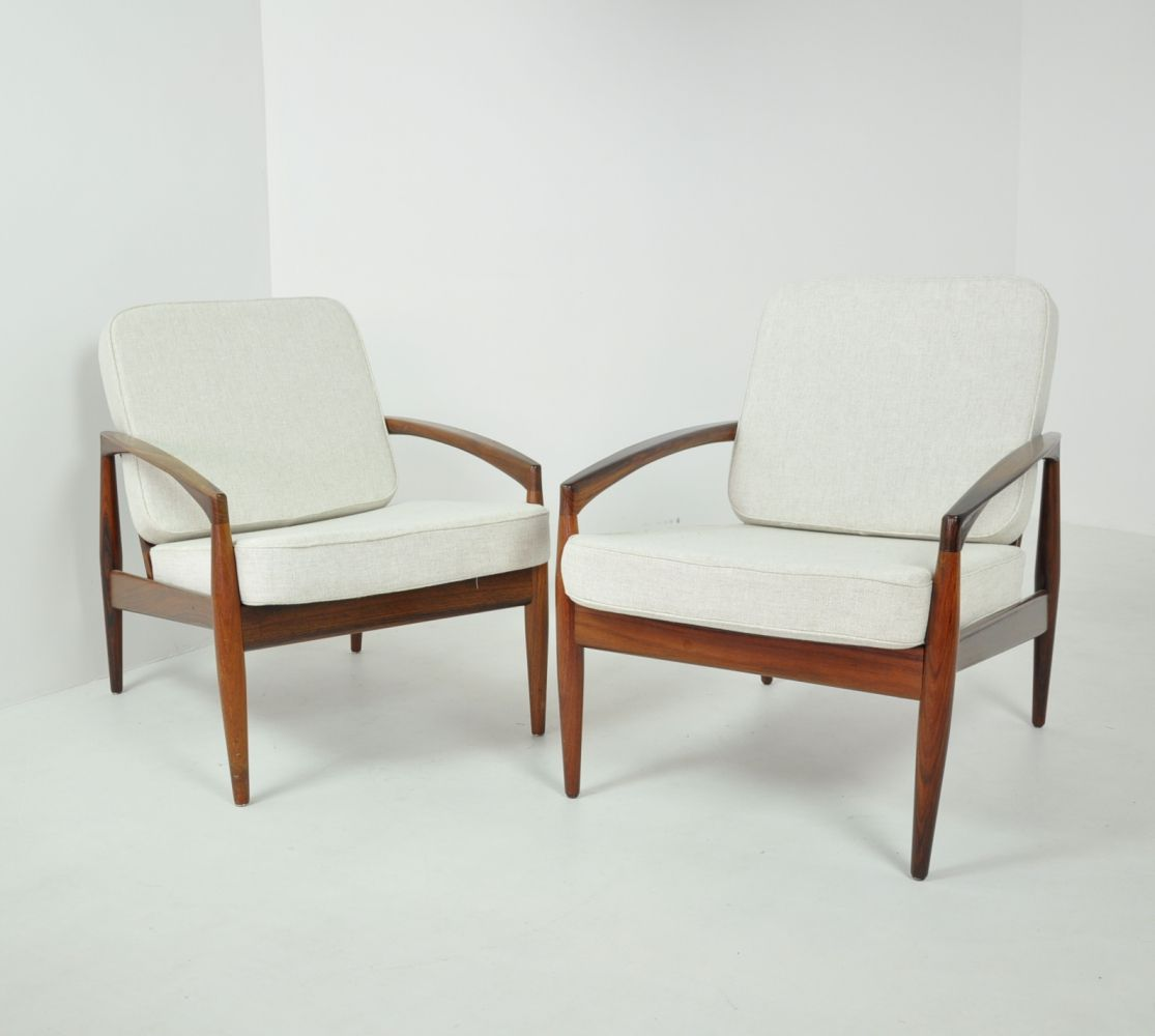 Pair Of U0027Paper Knifeu0027 Easy Chairs By Kai Kristiansen, Denmark 1963