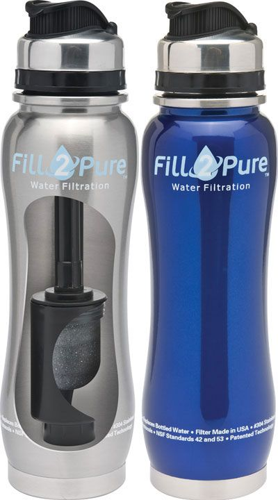 fe688119c6 The world's first stainless steel filtered water bottle! A Stainless Steel  Water Bottle that removes