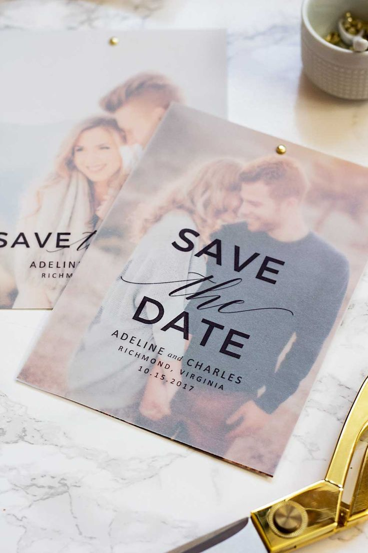 Make These Cute Save the Dates for Free! | Pipkin Paper Company