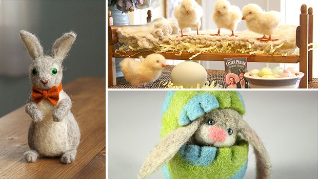 Photo of 22 Adorable Needle Felted Easter Decorations