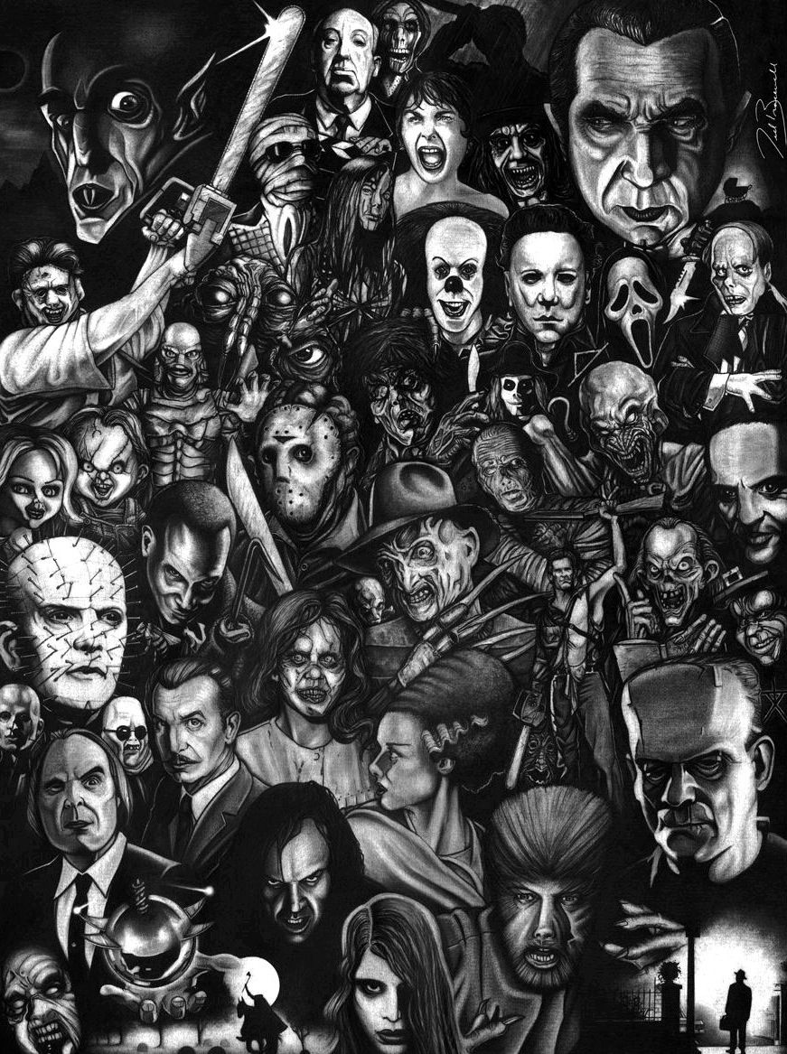 Horror Arte horror, Colagem de filme, Filmes clássicos