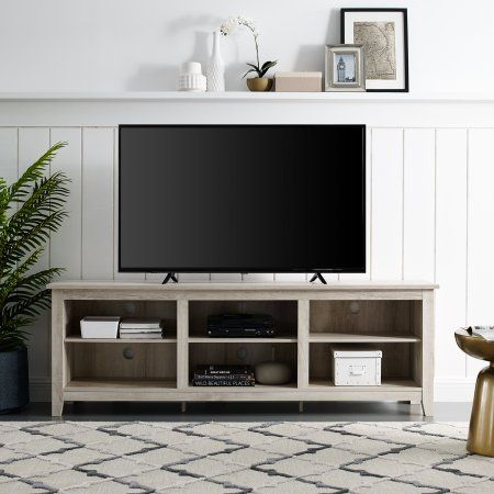 Wood Tv Stand For Tvs Up To 70 Inch Multiple Finishes White