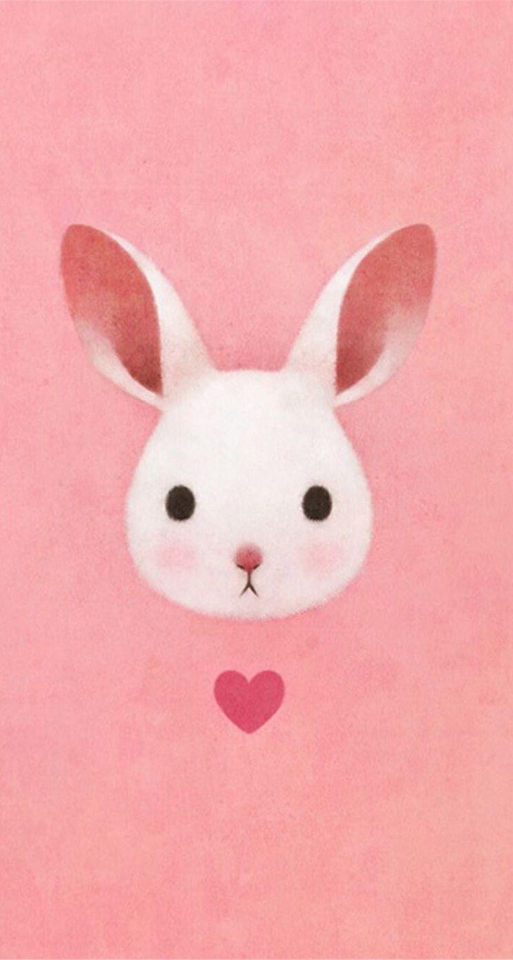かわいいウサギのイラスト壁紙 Iphone5s壁紙 待受画像ギャラリー ウサギのイラスト バニー アート ウサギの絵