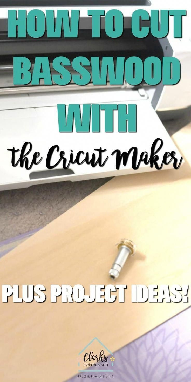 Basswood is my favorite wood to cut with my Cricut Maker. In this post, I share all my favorite tips and tricks so you can avoid some of the mistakes I've made when it comes to cutting basswood with the Cricut Maker! #clarkscondensed #basswood #cricut #cricutmaker #cricutmaterials #cricutprojects #cricutdiy #projectideas #WoodworkVise