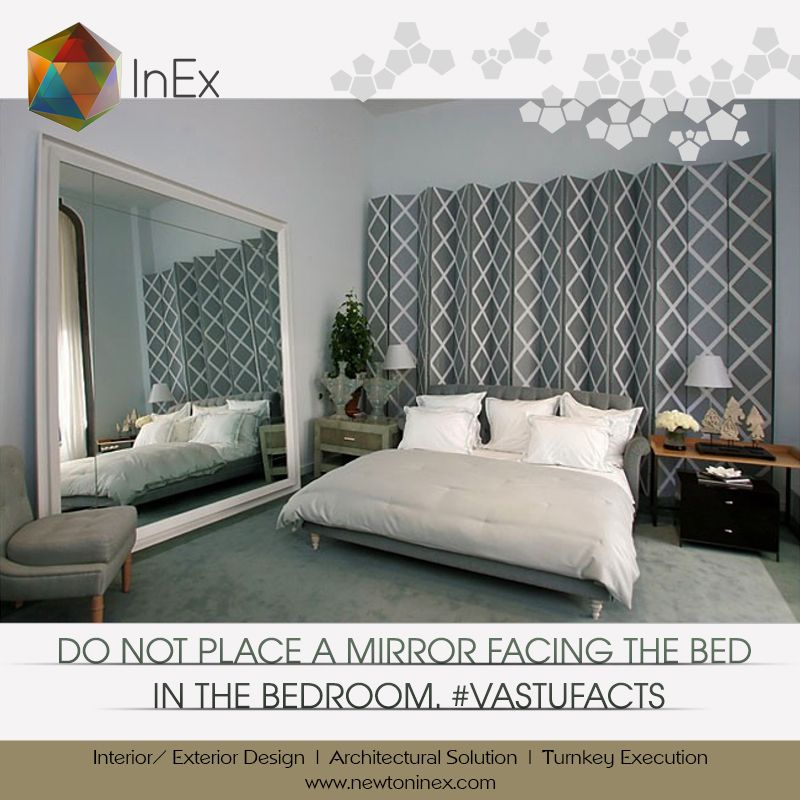 According To Vastu Placing A Mirror Facing The Bed Can Lead To Ill Health And Dispute In The Family Unique Bedroom Design Modern Bedroom Design Home Bedroom